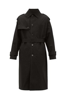 Versace Belted cotton trench coat