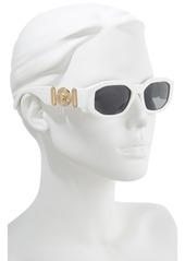c880cf71b05 Versace Versace Biggie 53mm Round Sunglasses