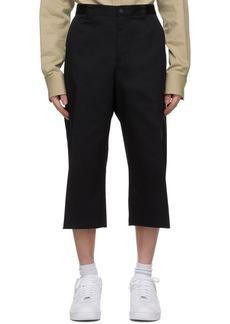 Versace Black Raw Edge Shorts