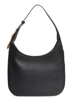 Versace Borso Leather Hobo Bag