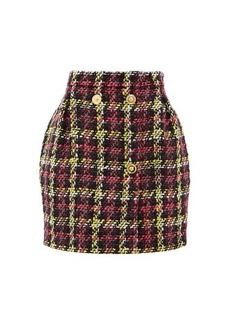 Versace Bouclé wool-blend mini skirt