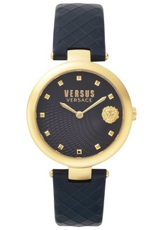 Versus Versace Buffle Bay Leather Strap Watch, 36mm