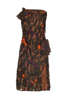 Versace Camouflage fil coupé one-shoulder dress
