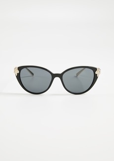 977e3fdb0b Versace Versace Embossed Monochromatic Cat-Eye Sunglasses