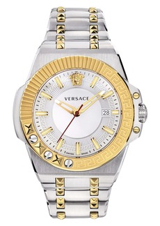 Versace Chain Reaction Bracelet Watch, 45mm