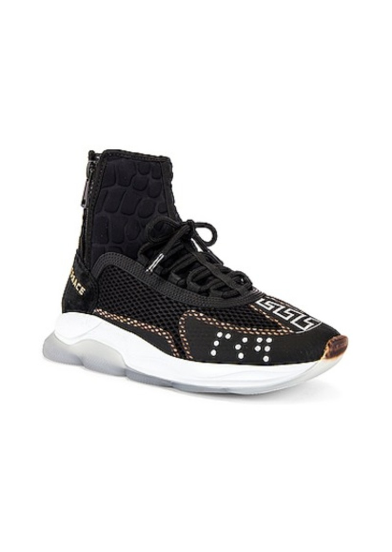VERSACE Chain Reaction High Top Sneaker