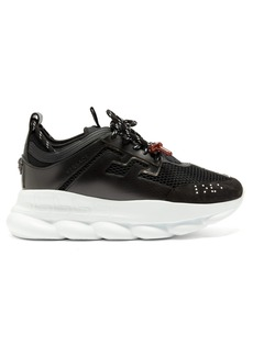 Versace Chain Reaction mesh and leather trainers