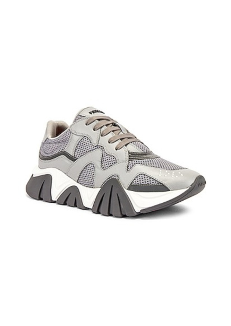 VERSACE Chain Reaction Sneaker in Grey