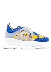 Versace Chain Reaction twill and suede trainers