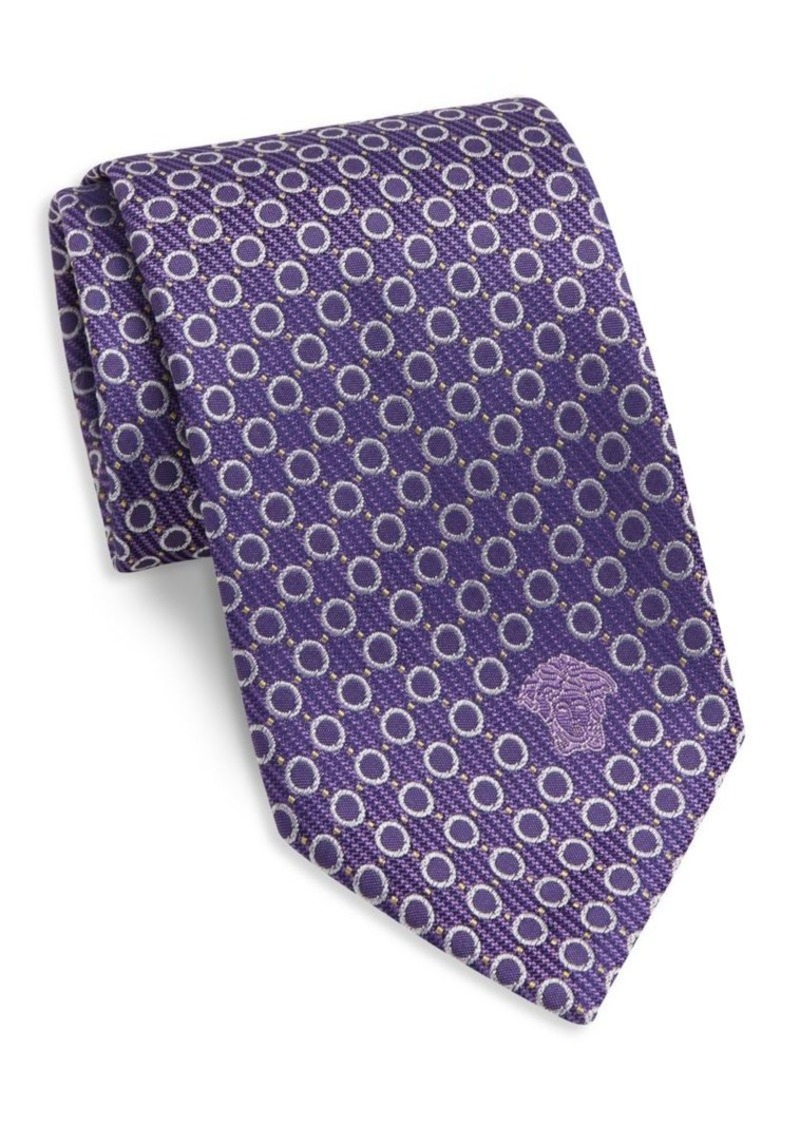 Versace Collection Circle Silk Tie