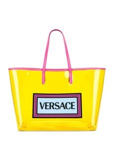 VERSACE Clear Vinyl Logo Tote
