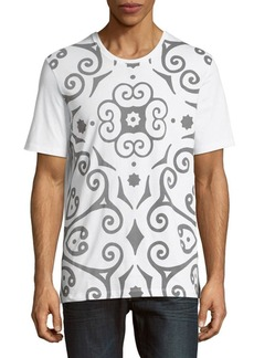 Versace Collection Abstract-Design Cotton Tee