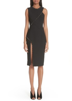 Versace Collection Asymmetrical Stud Detail Dress