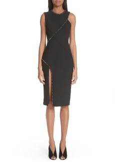 Versace Collection Asymmetrical Stud Detail Dress