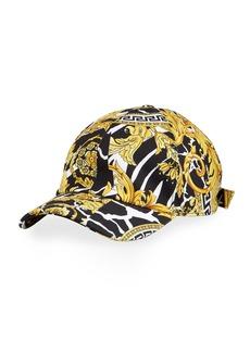 Versace Barocco Print Baseball Cap