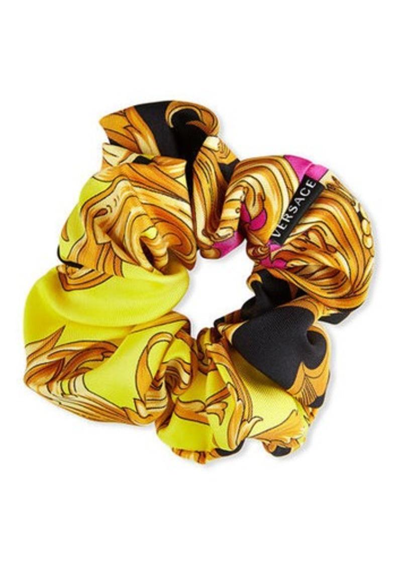 Versace Collection Baroque Print Silk Scrunchie