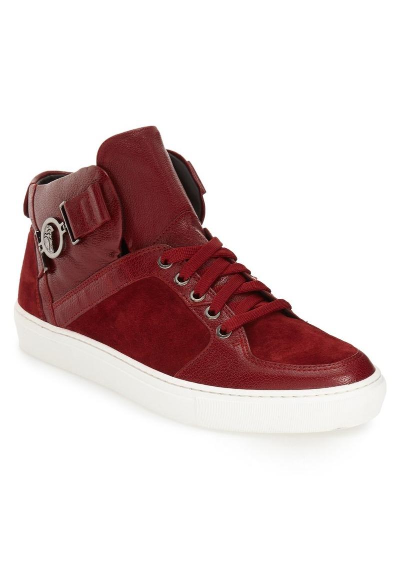Versace Collection Buckle High Top Sneaker (Men)