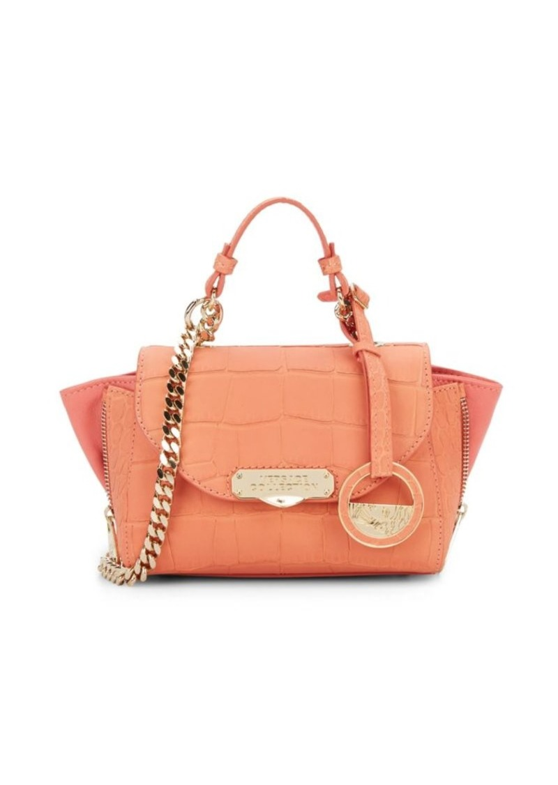 Versace Collection Chain Detailed Leather Tote
