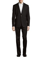 Versace Collection Classic-Fit Solid Patterned Suit