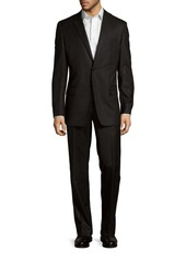 Versace Collection Classic-Fit Solid Wool Suit