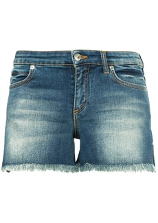 Versace Collection contrast pocket denim shorts - Blue