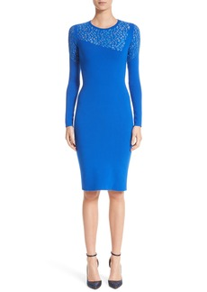 Versace Collection Contrast Stitch Knit Dress