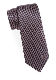 Versace Collection Curved Web Silk Tie
