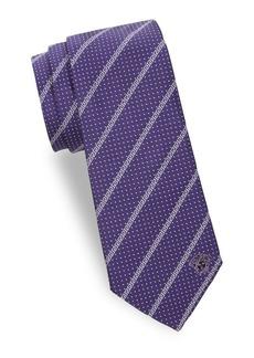 Versace Dot Maze Silk Tie