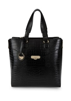 Versace Embossed Leather Tote Bag