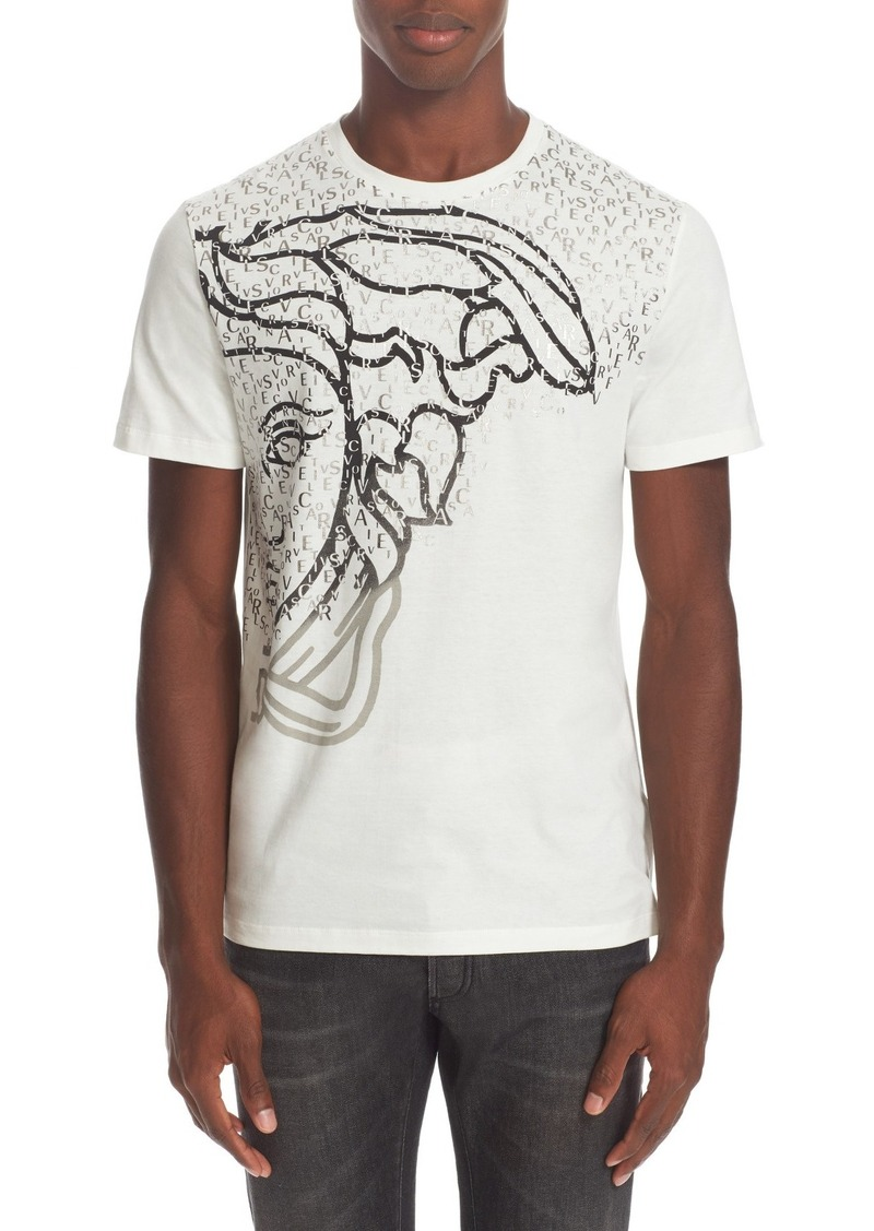versace versace collection exploded medusa logo t shirt now. Black Bedroom Furniture Sets. Home Design Ideas
