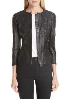 Versace Collection Fitted Leather Jacket