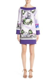 Versace Collection Floral Print Shift Dress