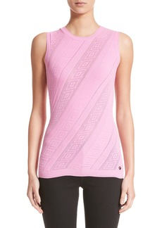 Versace Collection Frame Detail Knit Tank