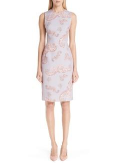Versace Collection Freize Print Stretch Cady Pencil Dress