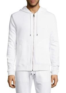 Versace Full-Zip Cotton Hoodie