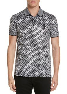 Versace Collection Geometric Print Polo