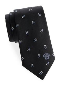 Versace Geometric Square Silk Tie