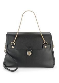 Versace Collection Grained Leather Tote