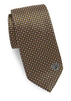 Versace Grid & Dot Silk Tie