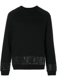Versace Collection hem patterned sweatshirt - Black
