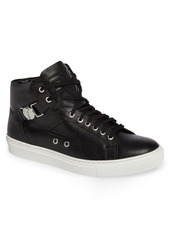 Versace Collection High Top Sneaker with Side Medallion (Men)