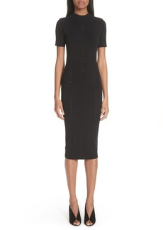 Versace Collection Knit Detail Body-Con Dress