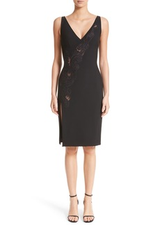 Versace Collection Lace Inset Sheath Dress