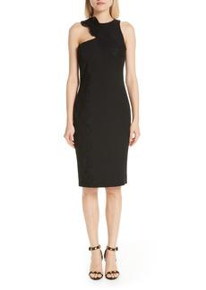 Versace Collection Lace Trim Cutout Sheath Dress
