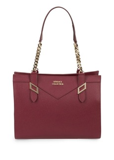 Versace Collection Leather Chain Satchel
