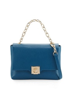 Versace Collection Leather Fold-Over Crossbody Bag