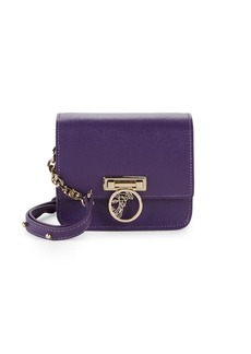 Versace Leather Logo Crossbody Mini Bag