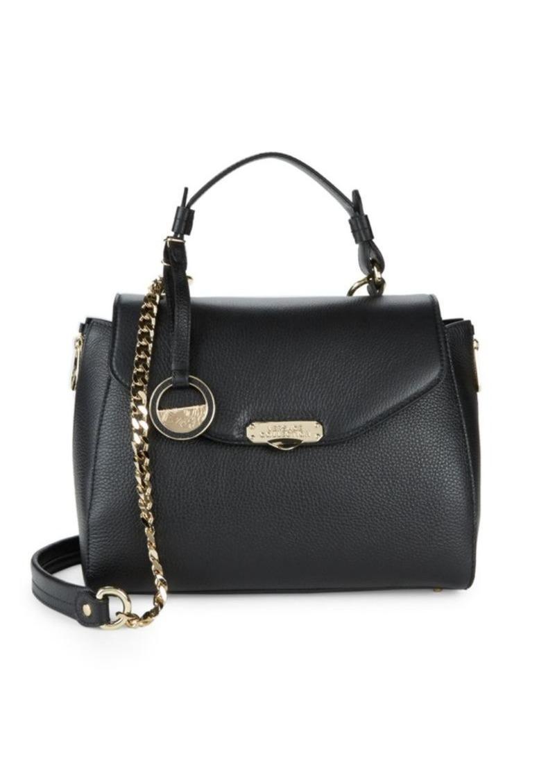 62a35675eb099 Versace Leather Top Handle Satchel Bag