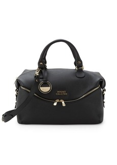 Versace Leather Zip-Front Satchel