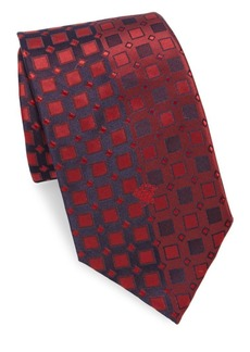 Versace Collection Letter Logo Silk Tie